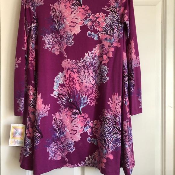 New Lularoe XS Purple Coral Reef Caroline Cardigan